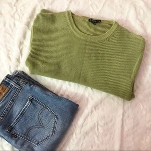 🍃J. Crew | Green knit sweater